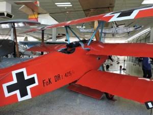 Museo del Aire - Fokker DR-1 triplano, con motor rotativo Clerget, como el que pilotaba el famoso Barón Rojo.