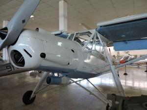 Museo del Aire - Fieseler FI 156-A Storch (cigüeña). Avioneta con características STOL diseñada para enlace y reconocimiento.