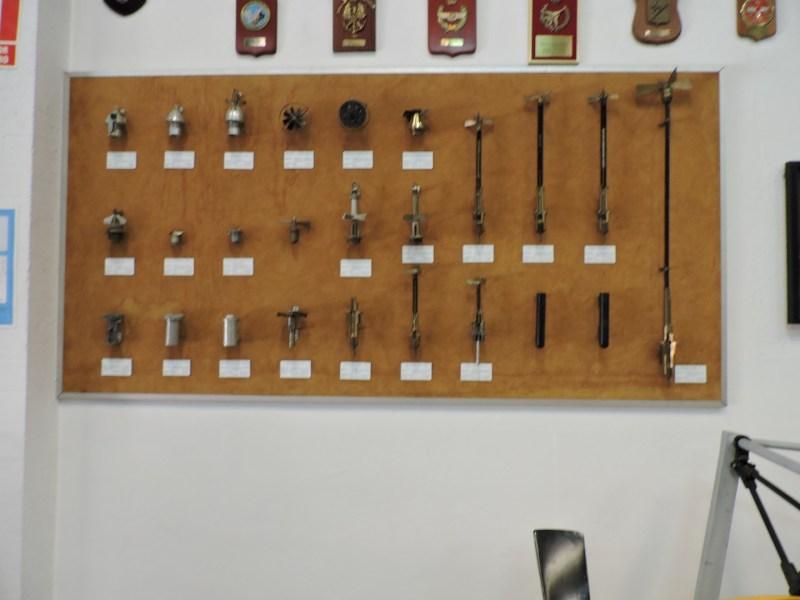 Museo del Aire - Espoletas de todo tipo.