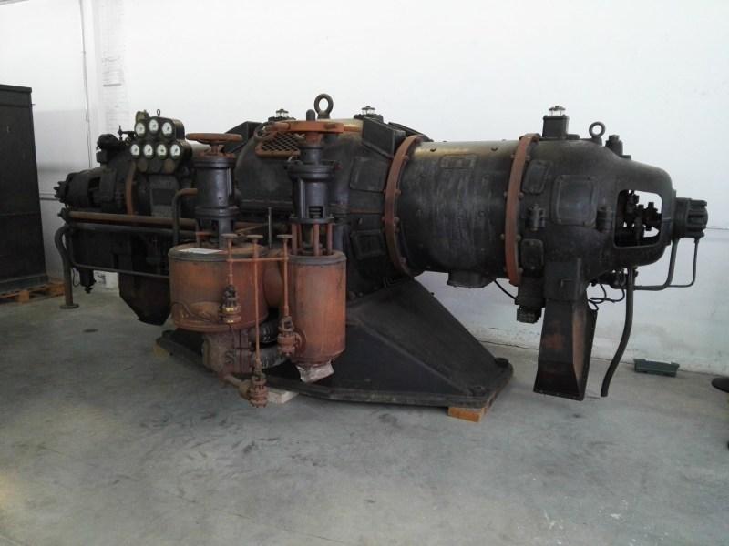 Almacén del MUNCYT - Turbogenerador de la empresa sueca STAL, fabricado en 1931.