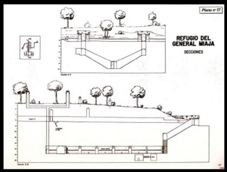 Búnker de El Capricho - Para mantener el secreto del búnker, la construcción se le encargó a la Marina y ningún documento de la época hacía referencia a la finalidad de la construcción (1).