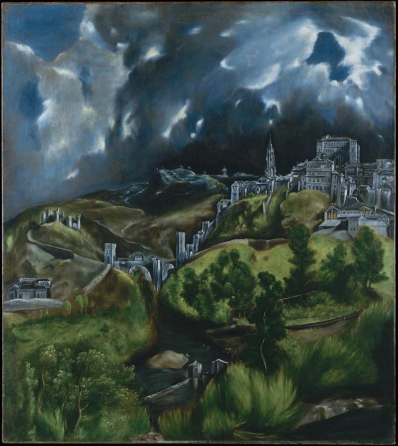 Maquetas y Modelos Históricos - Vista de Toledo de El Greco, donde se puede ver el Artificio de Juanelo (2).