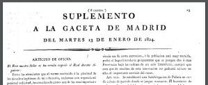 Museo Policía de Madrid - Decreto fundacional de la Policía Nacional del Reino, que debía encargarse desde vigilar que no hubiera macetas en terrazas sin protección, a la lucha contra las sociedades secretas, o la vigilancia de pesos y medidas.