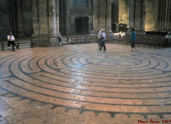 El Laberinto de Villapresente - Laberinto en la nave principal de la Catedral de Chartres (4)
