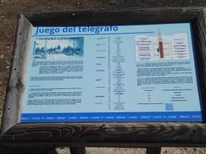 El telégrafo óptico - Juego del telégrafo, para familiarizarnos con el sistema Mathé.