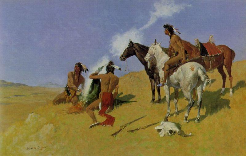 El telégrafo óptico - Señales de humo de indios americanos (1).