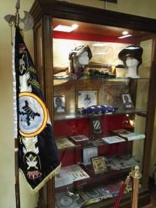 Museo de la Bripac - Vitrina con recuerdos de las misiones de Líbano, Irak y Afganistán.