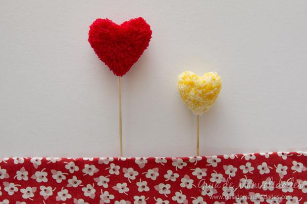Topper pompones corazón 1