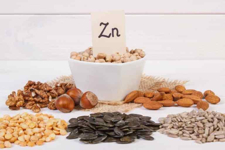Zinc en diferentes alimentos