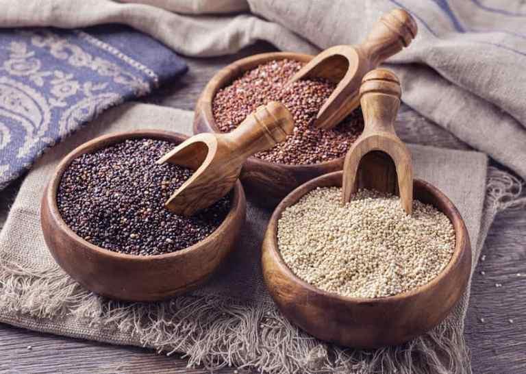 Diferentes tipos de quinoa