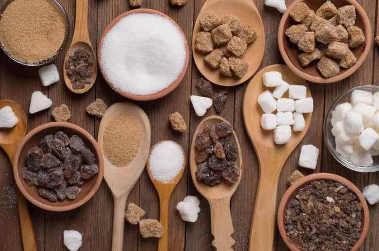 Diferentes tipos de azúcar