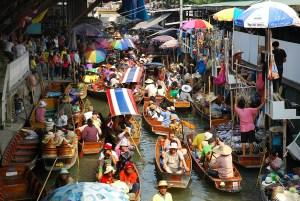 mercado flotante Ayutthaya mercado del tren