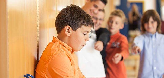 Niño acosado en el colegio