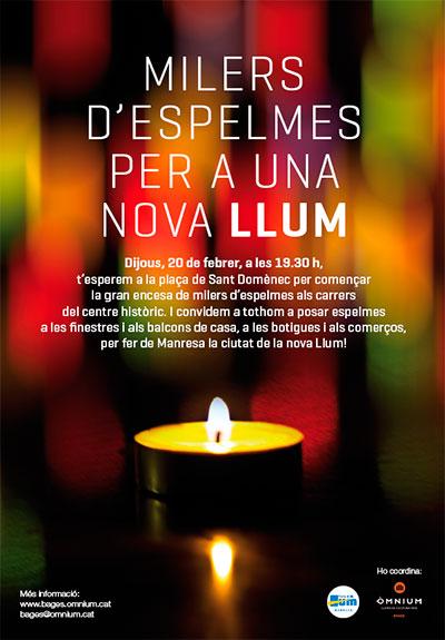 Milers d'espelmes per a una NOVA LLUM