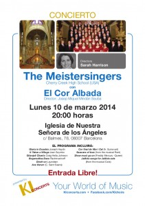 Concert Coral The Meistersingers i Cor Albada