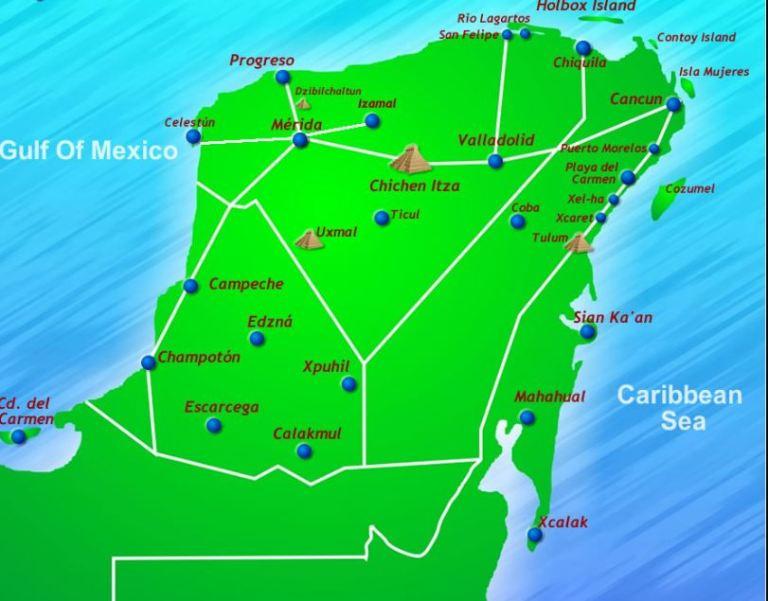 Localização de Chichén Itzá