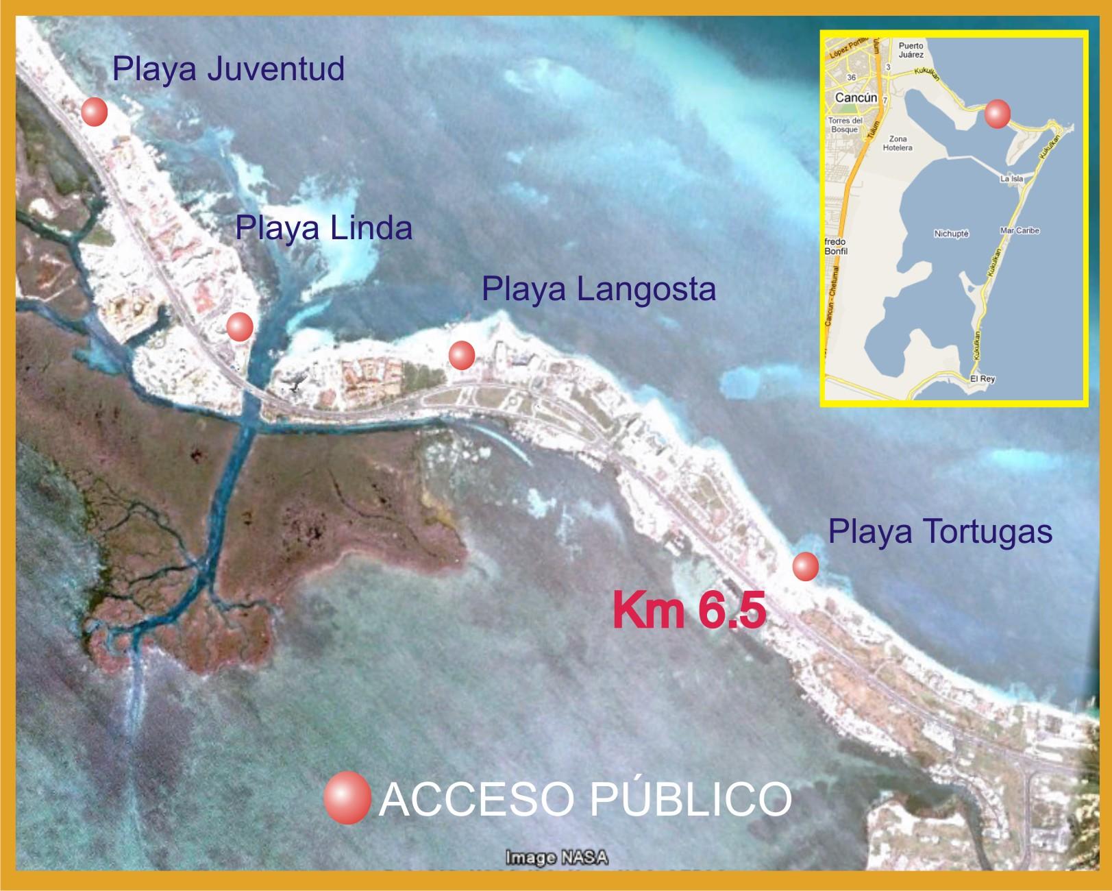 playa tortugas mapa