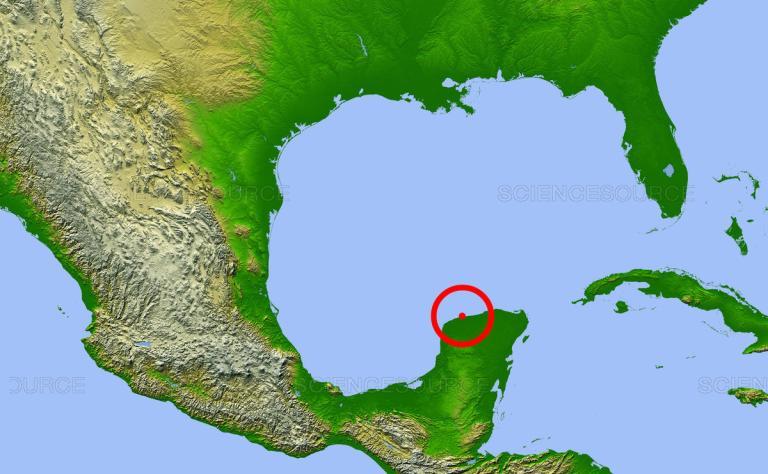 Cratera de meteoro em Yucatán