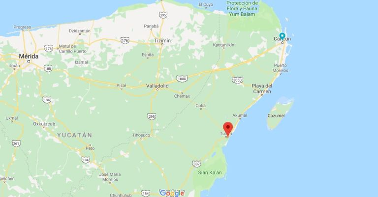 Onde fica Tulum