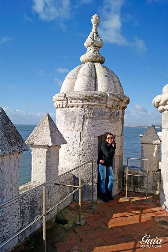 Interior da Torre de Belem em Lisboa