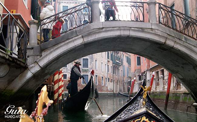 Gondoleiro em Veneza