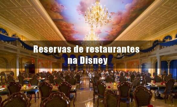 Como reservar restaurantes na Disney?