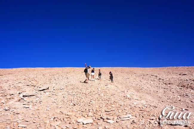 Subida no Trekking Cuchabrache Deserto do Atacama Chile