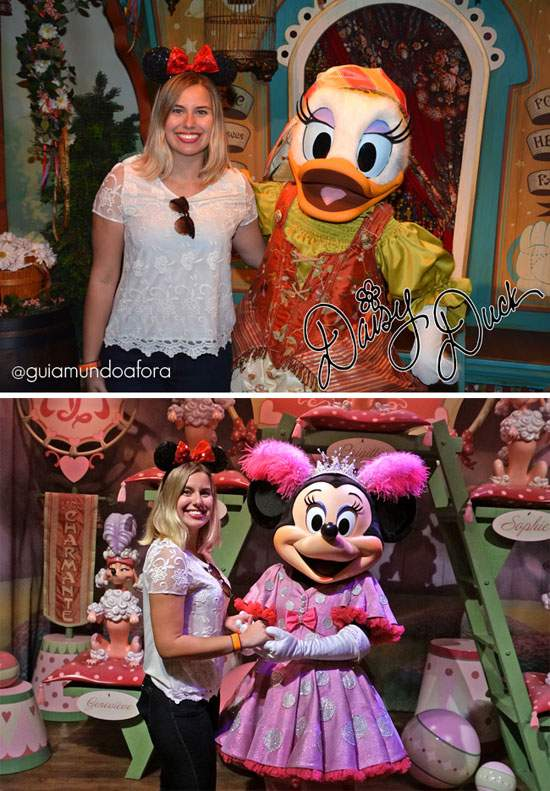 Margarida e Minnie no Pete's Silly Show no Magic Kingdom