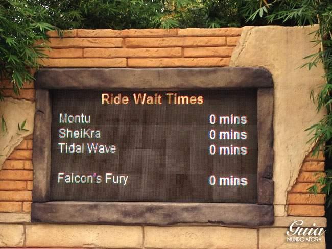 Busch Gardens sem filas