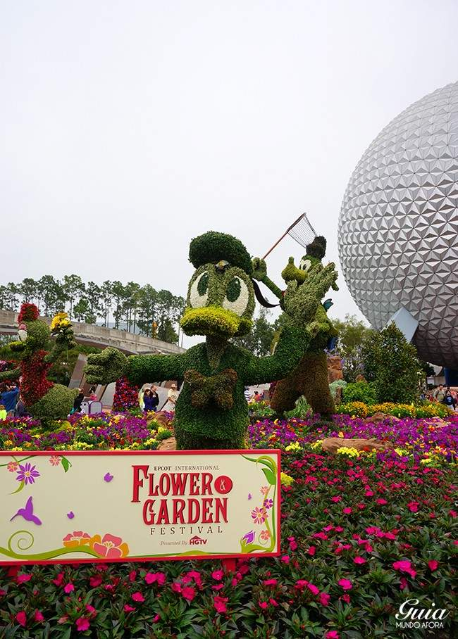 Donald Flower and Garden Festival Epcot
