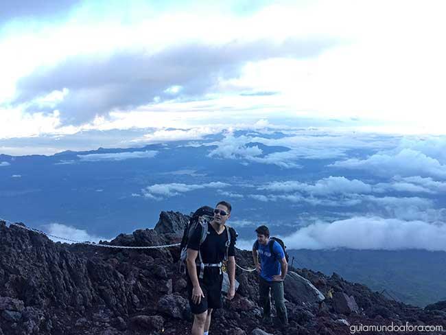 Subindo o Monte Fuji
