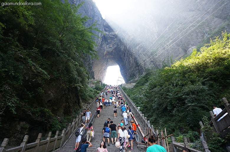 Lugar incrível na china Zhangjiajie