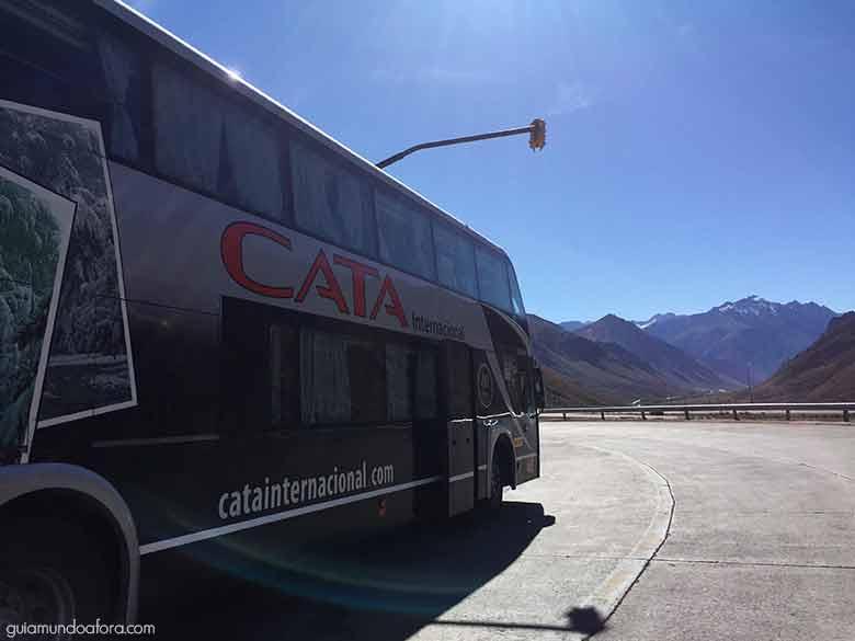 ônibus de Santiago e mendoza