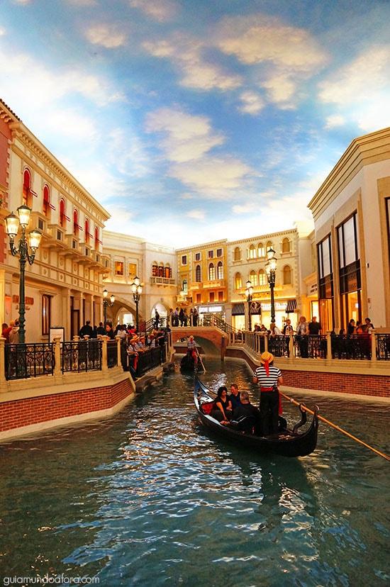 5 dias em Vegas - Passeio de gôndola