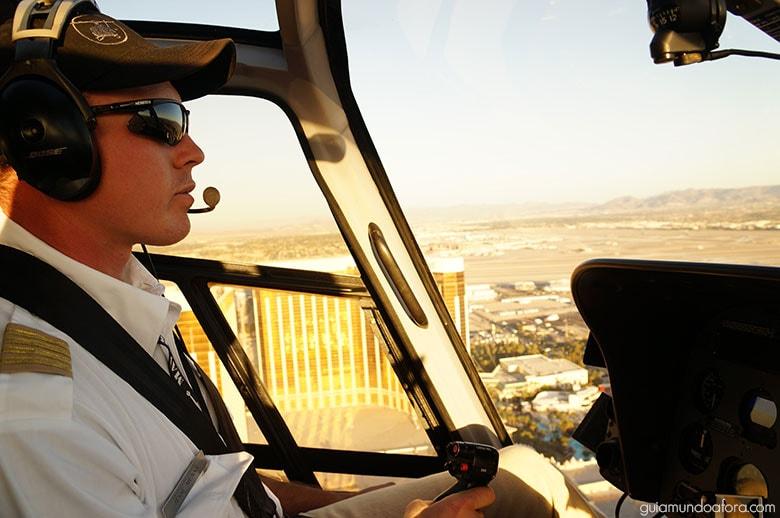 5 dias em Vegas - Helicóptero na Strip
