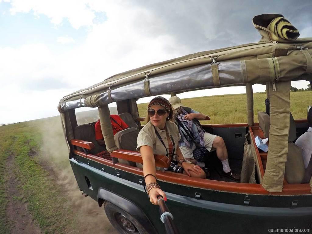Carro de safari na África