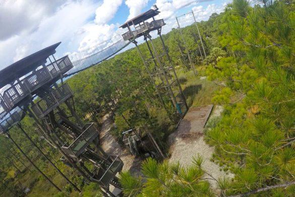 Tirolesa perto de Orlando: aventura no Forever Florida