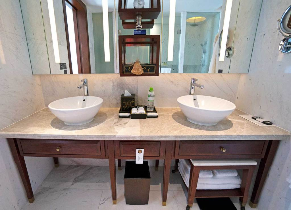 Bancada do banheiro do park Hyatt