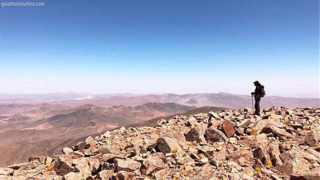 Paisagem do Cerro Quimal no Atacama, Chile