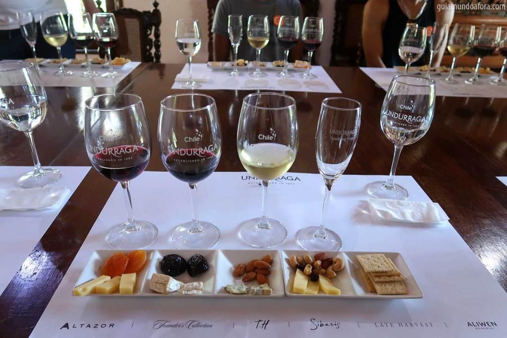 vinícola em Santiago undurraga degustação
