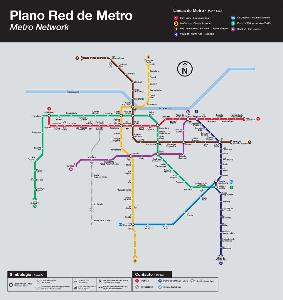 mapa metrô santiago
