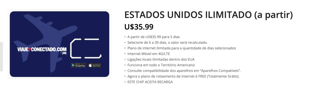 chip internet eua
