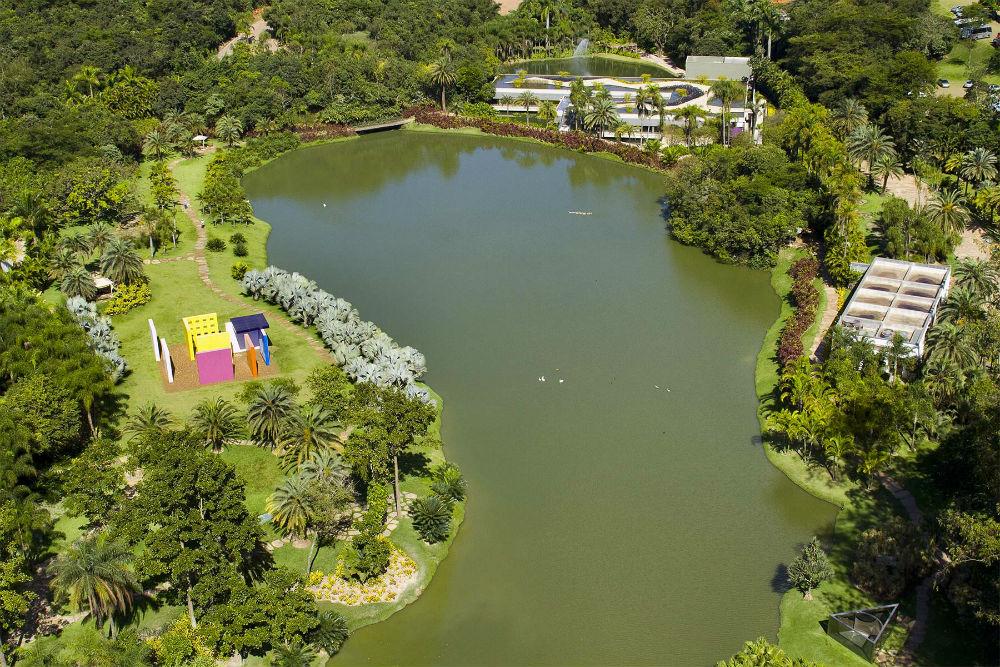 vista aérea de Inhotim