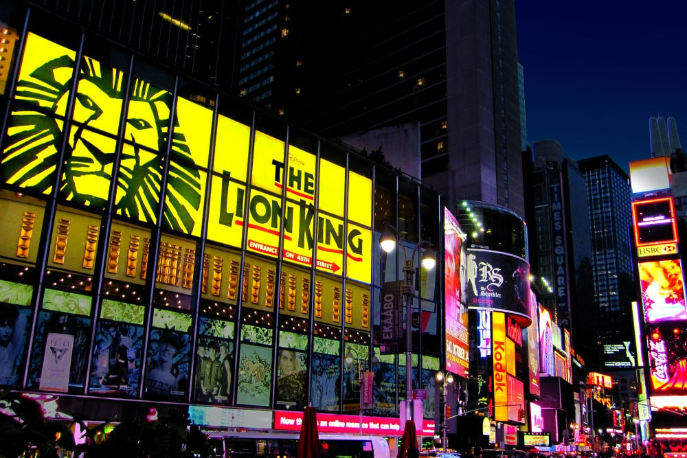 Teatro do musical de Lion King na Broadway