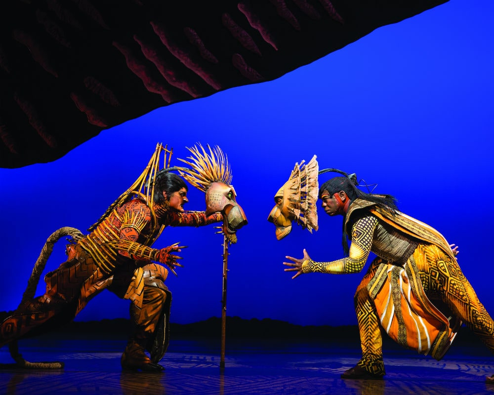 Foto do musical Lion King ou Rei Leão