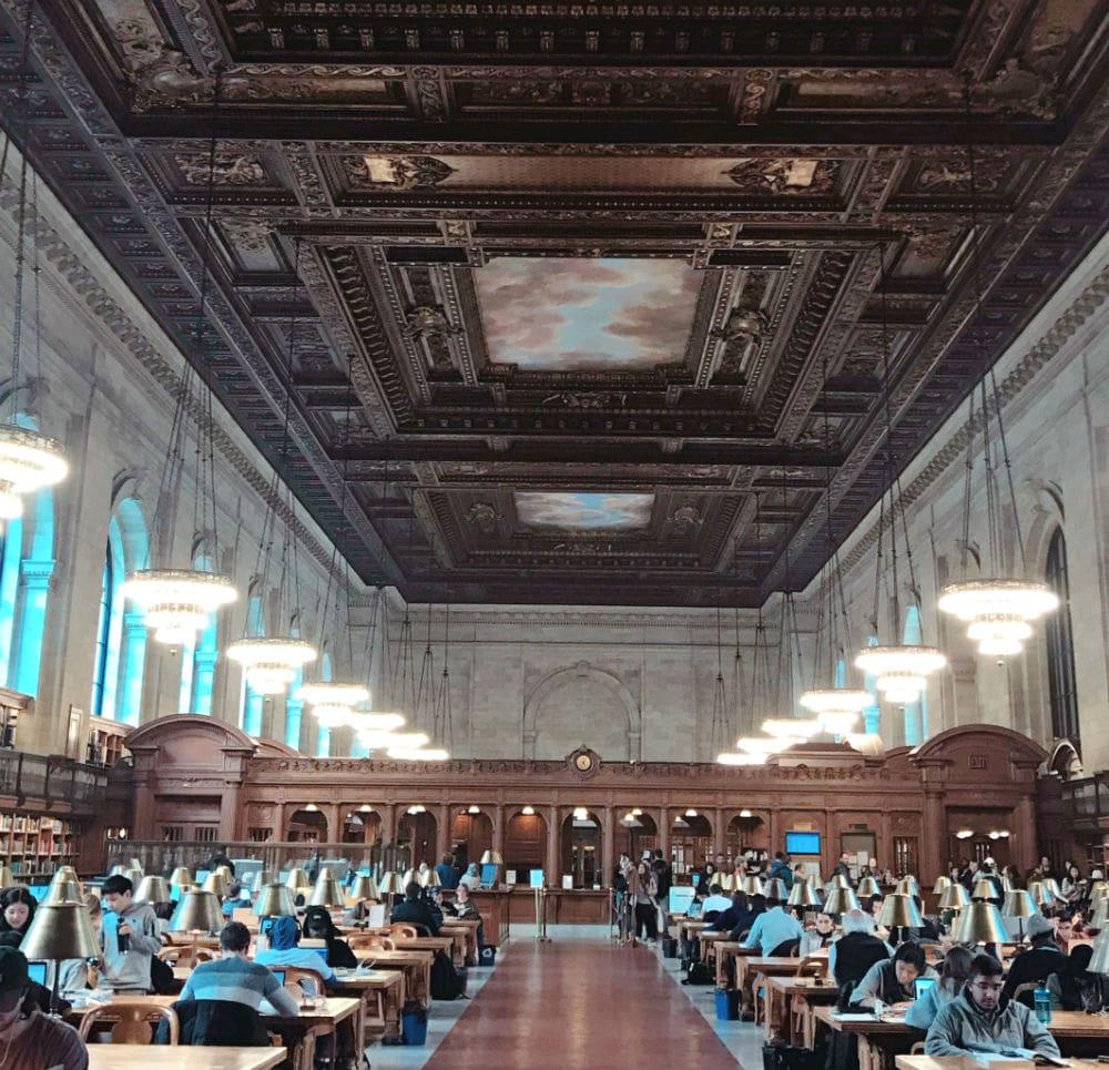 New York Public Library uma das atrações de \Nova York