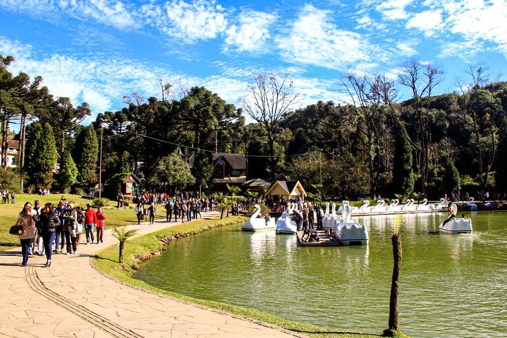 lago negro em Gramado, brasil