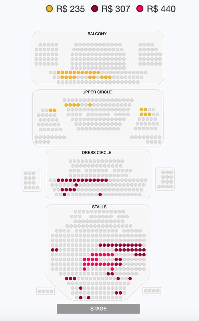 assentos musical Michael Jackson em Londres