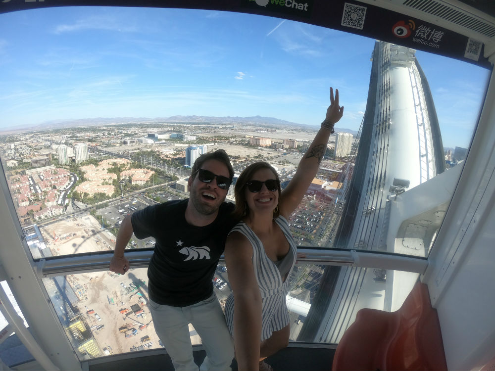 roda gigante high roller Las Vegas durante o dia
