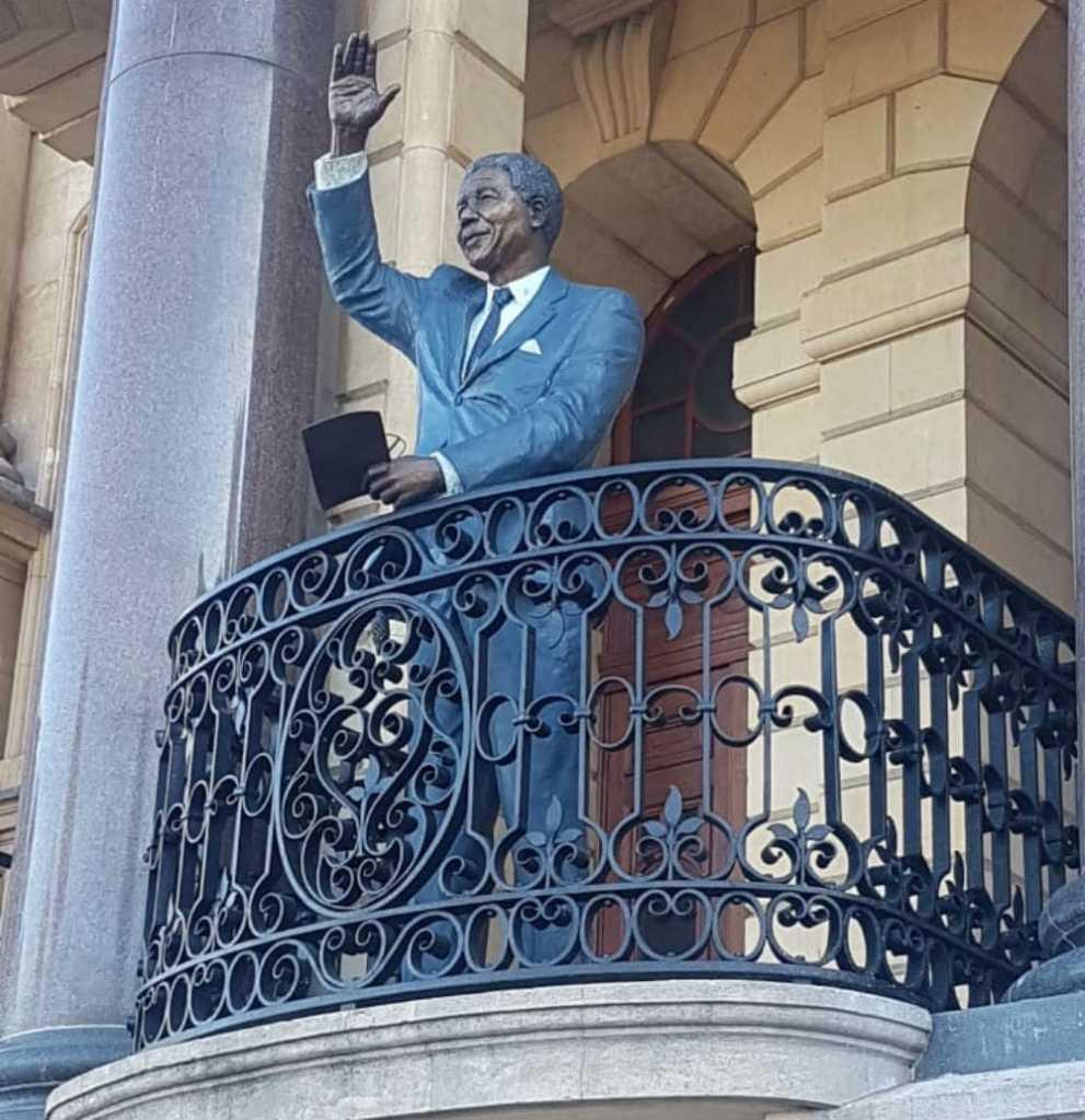 estátua de Mandela Cidade do Cabo